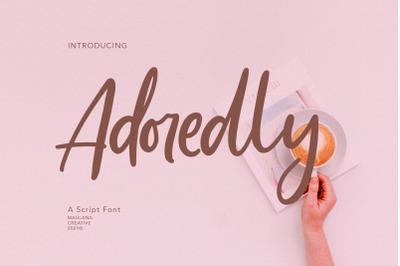 Adoredly Script Brush Font