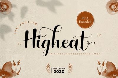 Higheat - Modern Calligraphy Font