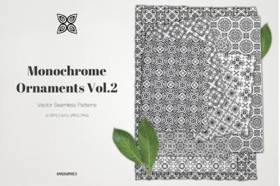 Monochrome Ornaments Vector Patterns Vol.2