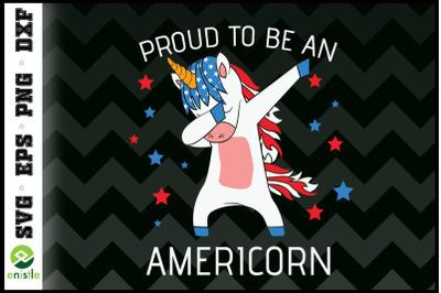 Americorn Unicorn 4th of July Mericorn