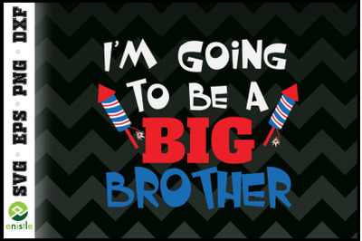 Big Brother Cute 4th of July Pregnancy