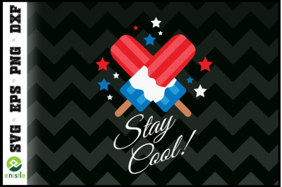 Stay Cool Ice cream Funny 4th Of July
