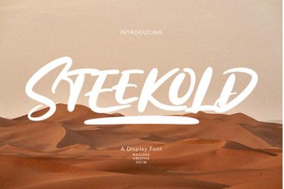 Steekold Display Font