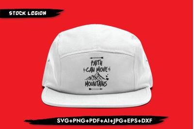 Faith Can Move Mountains SVG