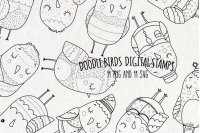 Doodle Birds SVG | Set of 11