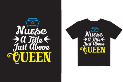 Nurse a title just above queen SVG DXF EPS PNG