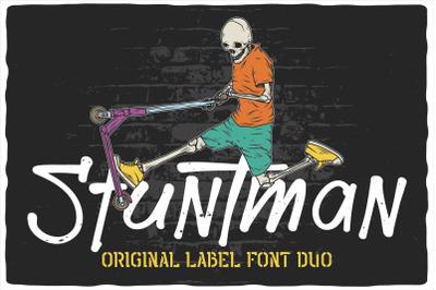 Stuntman Font Duo