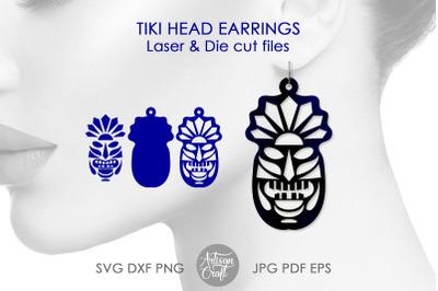 Tiki earrings, SVG files, earrings SVG