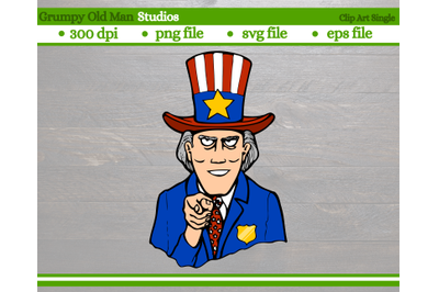 uncle sam with top hat | 4th of July