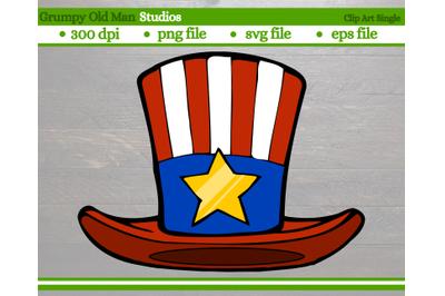 patriotic top hat | uncle sam hat