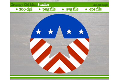 patriotic circle | stars and stripes | 4th of July