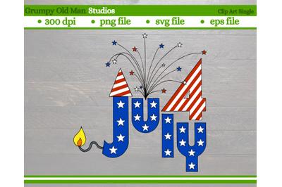July 4 design | 4th of July rocket