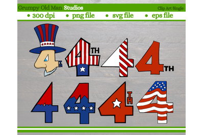 stylized number 4 | 4th of July
