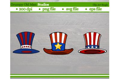 patriotic top hat | uncle sam hats