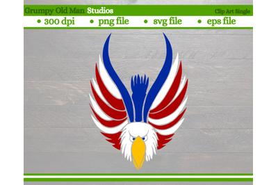 patriotic bald eagle | 4th of July