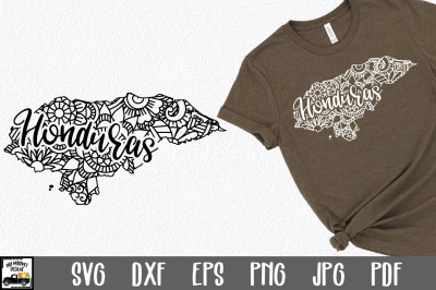 Honduras SVG File - Honduras Mandala Design