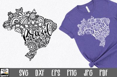 Brazil SVG File - Brazil Mandala Design