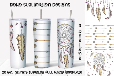 boho  sublimation design. Skinny tumbler wrap design