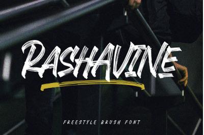 Rashavine - Street Font