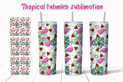 Tropical tumbler sublimation Summer 20oz Tumbler Design PNG