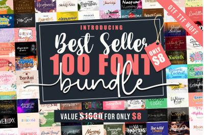 Best Seller 100 Font Bundle