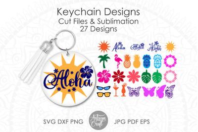 Keychain SVG bundle, Aloha, Hawaiian clipart