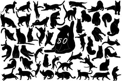 Hand drawn cats vector illustrations