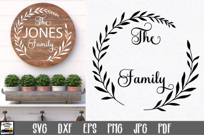 Family Name SVG File   Family Monogram Sign SVG File