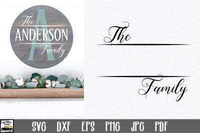 Family Name SVG File | Family Monogram Sign SVG File