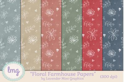 Floral Farmhouse Seamless Patterns