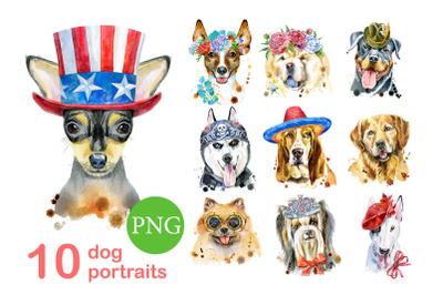 10 watercolor dog portraits 8