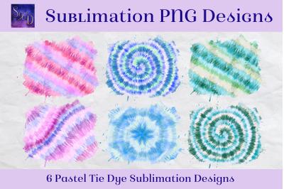 Sublimation PNG Designs - Pastel Tie Dye Images