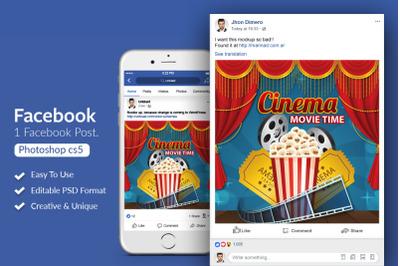 Cinema Movie Night Facebook Post