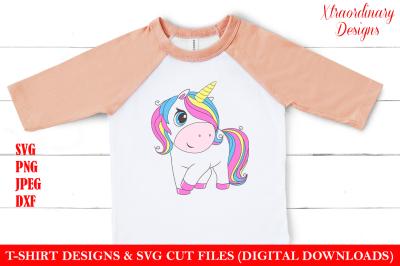 Unicorn Birthday SVG for Kids