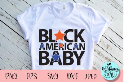 Black american baby svg, 4th of july svg