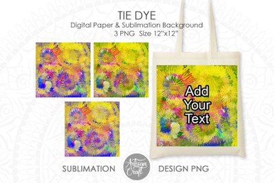 Tie dye PNG for sublimation