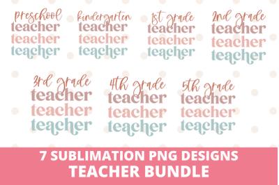 Teacher Sublimation PNG Design Bundle
