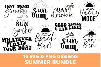 Summer Svg and Sublimation Design Bundle