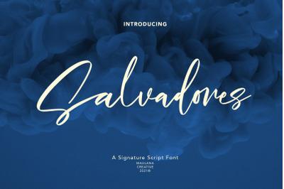 Salvadores Signature Script Font