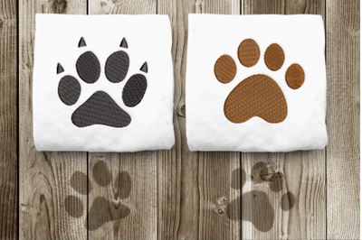 Dog and Cat Paw Duo Set   Embroidery