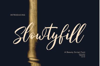 Slowtyfill Beauty Script Font