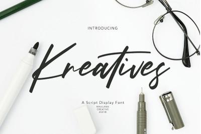 Kreatives Script Display Font