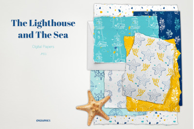 The Lighthouse and The Sea Digital Papers