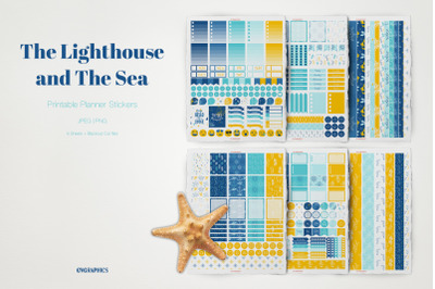 The Lighthouse and The Sea Planner Stickers