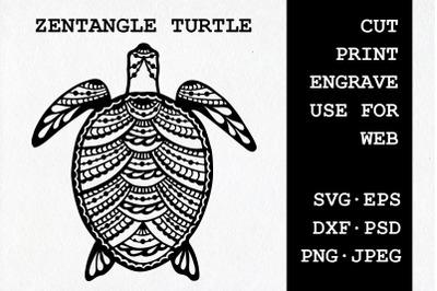 Zentangle Turtle | SVG DXF EPS PSD PNG JPEG