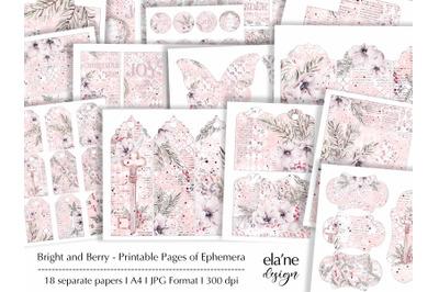 Bright and Berry Printable Ephemera