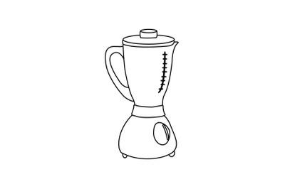 Kitchen Blender Outline Flat Icon
