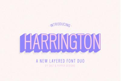 Harrington Font Family (3D Fonts, Logo Fonts, Font Family)