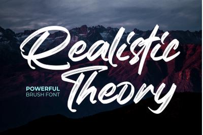 Realistic Theory - Powerful Brush Font