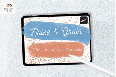 Grain and noise texture Procreate brushes